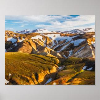 Berge Islands Snowy Poster