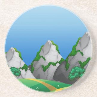 Berge Sandstein Untersetzer