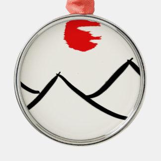 Berge Silbernes Ornament