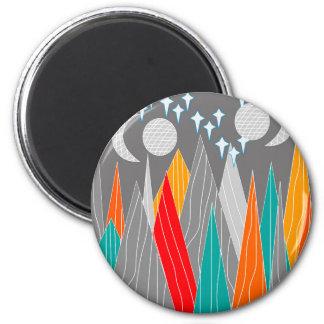 Berge weit entfernt runder magnet 5,7 cm