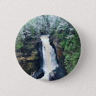 Bergmann-Fall-obere Halbinsel Michigan Runder Button 5,1 Cm