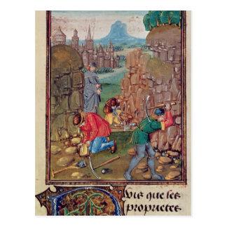 Bergmänner bei der Arbeit, von 'DES Choses DES Postkarte