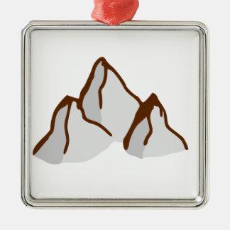Bergspitzen Silbernes Ornament