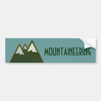 Bergsteigen, geht zu den Bergen Autoaufkleber