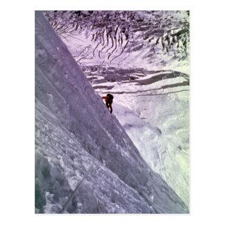 Bergsteiger auf Südgesicht von Annapurna, 5800 Postkarte