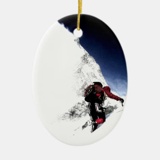 Bergsteiger-Extrem-Sport Keramik Ornament