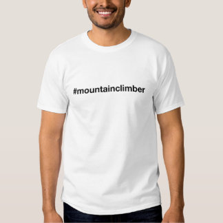 Bergsteiger Hashtag T-Stück Tshirts
