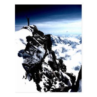 Bergsteiger-Leistungs-Schnee-Winter Postkarte