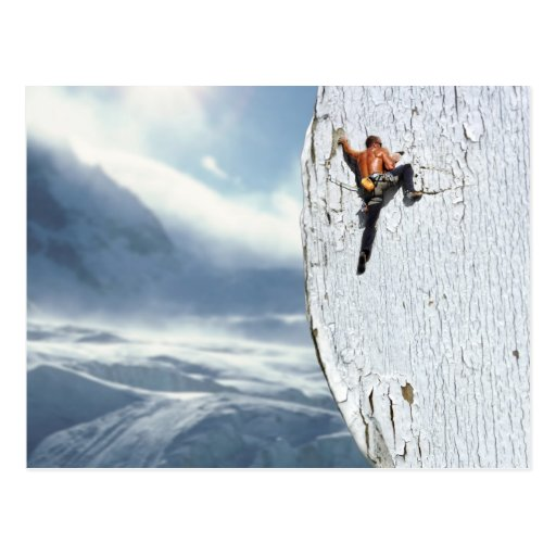 Bergsteiger-Postkarte