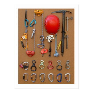 Bergsteigerausrüstung -- Postkarte