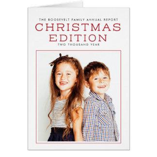 Bericht-Jahr in der Bericht-Weihnachtskarte Karte