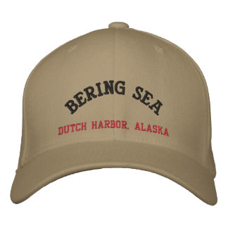 Bering-Seeniederländischer Hafen, Alaska Bestickte Baseballkappen