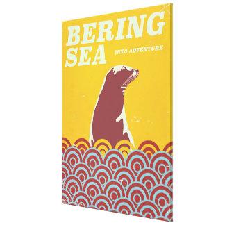 Bering-SeeVintages Artsiebziger jahre Leinwanddruck