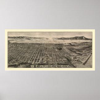 Berkeley, panoramische Karte CAs - 1909 Poster