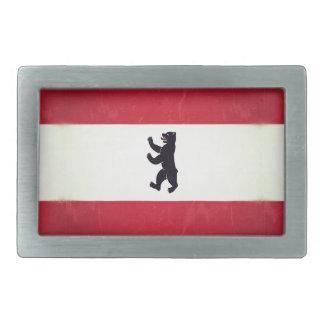 Berlim Grunged Flagge Rechteckige Gürtelschnalle