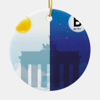 Berlin bei Tag und Nacht - Brandenburger Tor Keramik Ornament