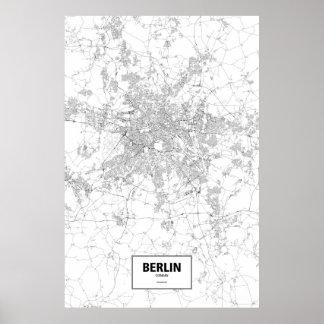 Berlin, Deutschland (Schwarzes auf Weiß) Poster