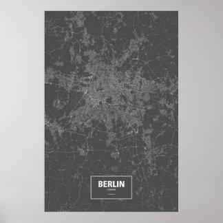 Berlin, Deutschland (weiß auf Schwarzem) Plakate
