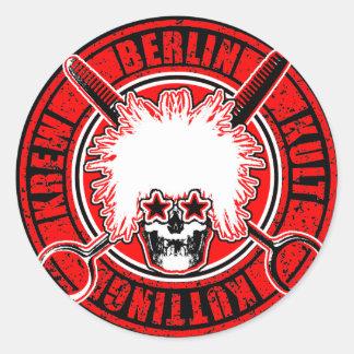 BERLIN KULT KUTTING KOMPANY RUNDER AUFKLEBER