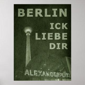 BERLIN LIEBE - grün Poster