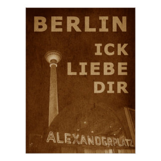 BERLIN LIEBE - orange Poster