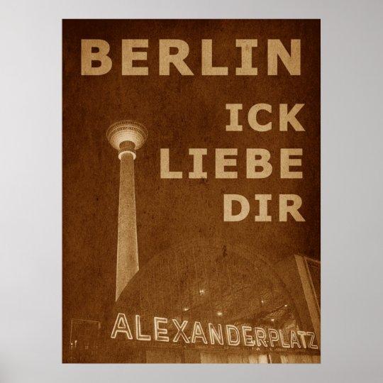 BERLIN LIEBE - orange Poster