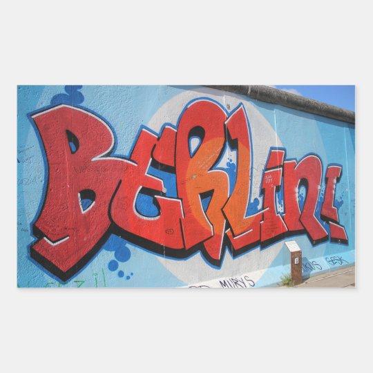 Berlin Rechteckiger Aufkleber