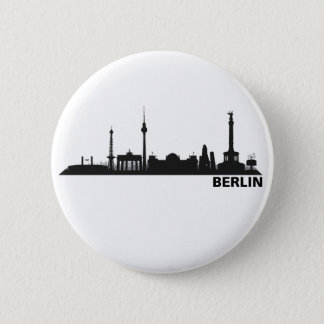 Berlin Skyline Ansteckbutton Runder Button 5,7 Cm