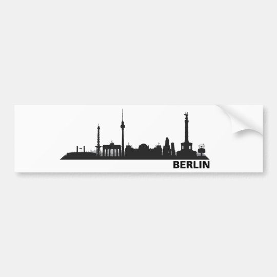 Berlin Skyline Aufkleber Autoaufkleber
