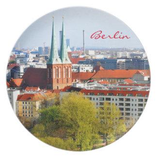 Berlin-Skyline (Deutschland) Melaminteller