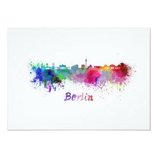 Berlin skyline im Watercolor 12,7 X 17,8 Cm Einladungskarte