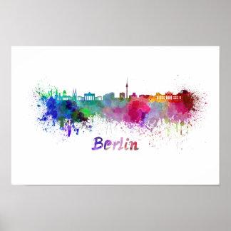 Berlin skyline im Watercolor Poster