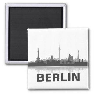 Berlin Skyline Kühlschrank Magnet Quadratischer Magnet