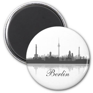 Berlin Skyline Kühlschrank Magnet Runder Magnet 5,1 Cm