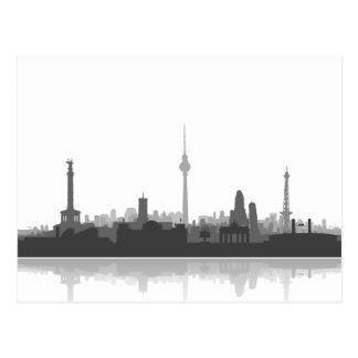 Berlin Skyline - Postkarte / Grußkarte