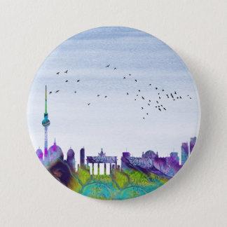 Berlin-Skyline Runder Button 7,6 Cm