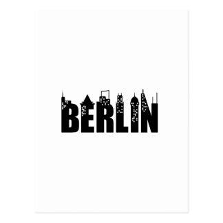Berlin-Skyline-Wolkenkratzer-Stadt Postkarte