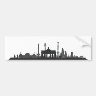 Berlin Stadt Skyline - Autoaufkleber