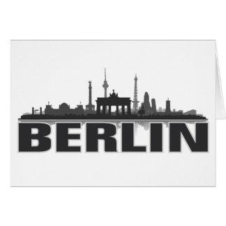 Berlin Stadt Skyline - Grußkarte / Klappkarte