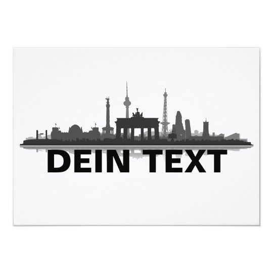 Berlin Stadt Skyline - Grußkarte / Klappkarte 11,4 X 15,9 Cm Einladungskarte