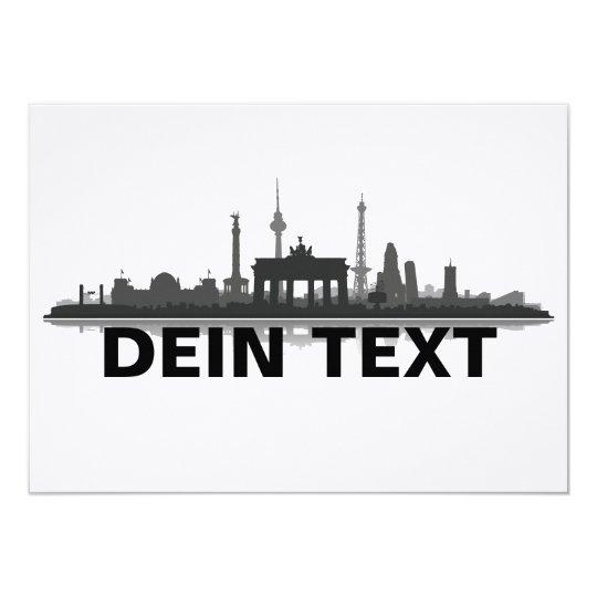 Berlin Stadt Skyline - Grußkarte / Klappkarte Karte