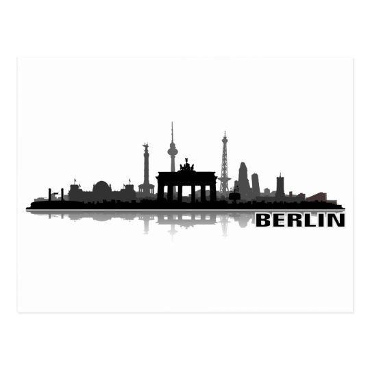 Berlin Stadt Skyline - Postkarte