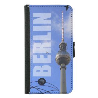 "BERLIN TV Tower with Detail of ""World Time Clock"" Samsung Galaxy S5 Geldbeutel Hülle"