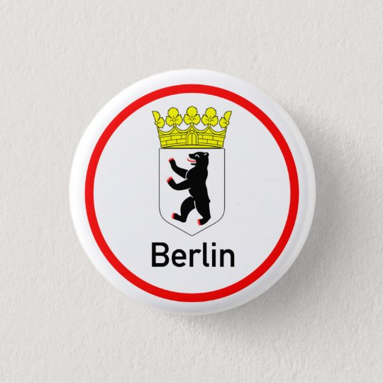 Berliner Stadtwappen Runder Button 2,5 Cm