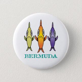 Bermuda 3-Fishes Runder Button 5,1 Cm