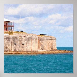 Bermuda-Fortdruck Poster