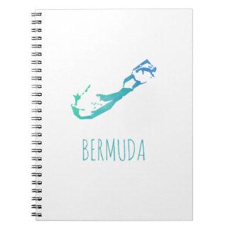Bermuda-Karte Spiral Notizblock
