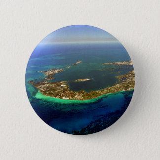 Bermuda-Luftaufnahme Runder Button 5,7 Cm