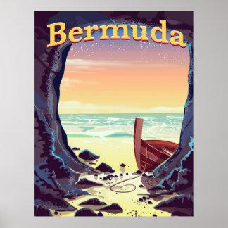 Bermuda-Piraten-Höhlenreiseplakat Poster