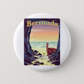 Bermuda-Piraten-Höhlenreiseplakat Runder Button 5,1 Cm